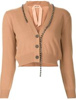 No.21 embellished cropped cardigan