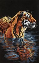 "Dimensions Tiger Chilling Out"" Counted Cross Stitch Kit, Multi-Colour"