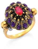 Alexander McQueen Ruby & Crystal Cocktail Ring
