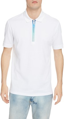 Givenchy Address Short Sleeve Zip Pique Polo