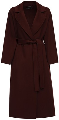 S Max Mara Elena Belted Double Wool Long Coat