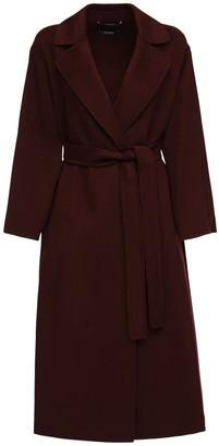 Max Mara 'S Elena Belted Double Wool Long Coat