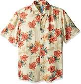 Margaritaville Men's Short Sleeve Parrot Paradise Print Shirt