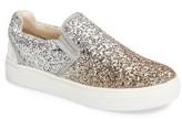 Stuart Weitzman Girl's Double Marcia Glitter Platform Sneaker