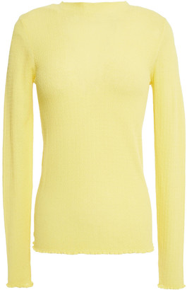 Sandro Ethan Ruffle-trimmed Cotton-blend Sweater