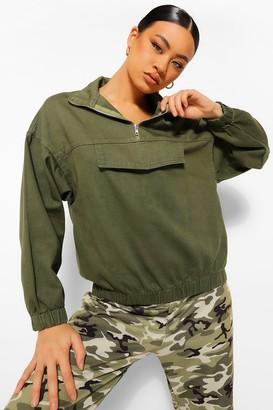 boohoo Hooded Pull Over jean jacket