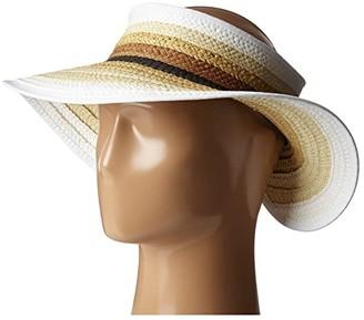 San Diego Hat Company PBV007 Paper Braid Adjustable Roll Up Visor with Ribbon Edge (Brights) Casual Visor