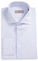 Canali Men's Regular Fit Check Cotton & Linen Dress Shirt