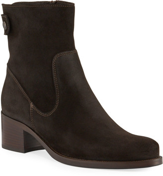 La Canadienne Petunia Waterproof Suede Zip Booties