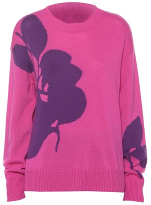 Valentino Wool & Cashmere Floral Knit Sweater