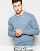 Farah Jumper In Lambswool Exclusive - Blue