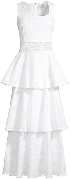 Azulu Layered Eyelet Ruffle Dress