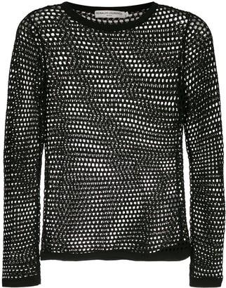 Reinaldo Lourenço Sheer Crochet Blouse