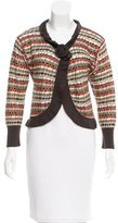 M Missoni Wool-Blend Patterned Cardigan