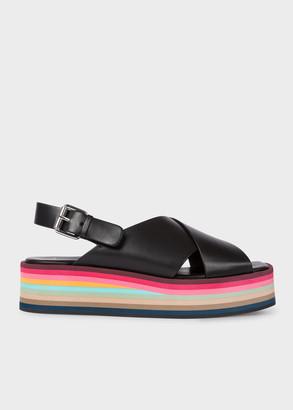 Paul Smith Women's Black Leather 'Becca' Platform Sandals