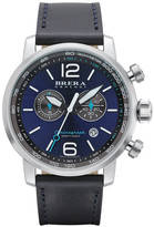 Brera Men&s Dinamico Chronograph Leather Strap Watch