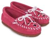 Minnetonka Suede Beaded Loafers