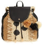 Tommy Bahama Bahama Mama Straw Backpack - Black