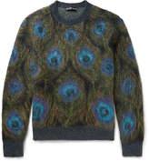 Alexander Mcqueen - Peacock-intarsia Mohair-blend Sweater