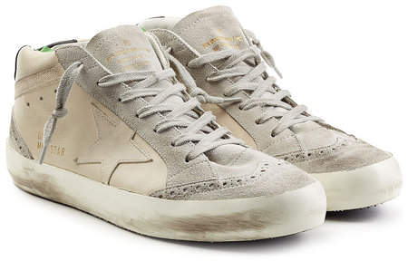 Golden Goose Mid Star Sneakers with Suede