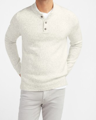 Express Cozy Mock Neck Henley Sweater