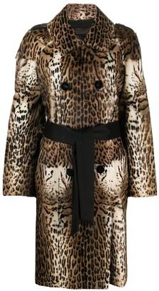 Liska Animal Print Long Coat