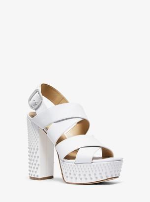 MICHAEL Michael Kors Mila Studded Leather Platform Sandal