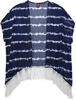Arizona Short-Sleeve Fringed-Hem Kimono Top - Girls 7-16 and Plus