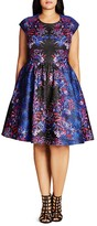 City Chic Femme Royal A-Line Dress