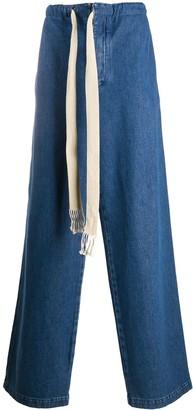 Loewe Drawstring Straight Leg Jeans