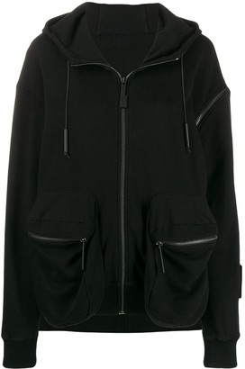 A-Cold-Wall* asymmetric logo patch hoodie