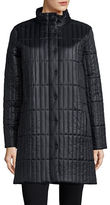 Eileen Fisher Quilted Long Sleeve Coat