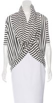 Alice + Olivia Striped Draped Cardigan