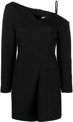 Coperni Off-Shoulder Long-Sleeve Mini Dress