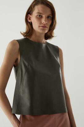 Cos Leather Vest Top
