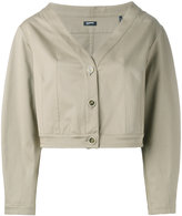 Jil Sander Navy cropped jacket - women - Cotton - 36