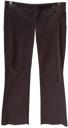 Gucci Purple Velvet Trousers