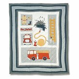 Patch Magic 36-Inch by 46-Inch Fire Truck Quilt Crib
