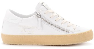 Philippe Model Paris Vintage White Leather Sneaker With Zip