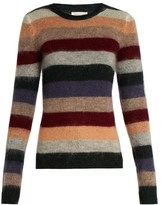 Etoile Isabel Marant Rainbow striped mohair and wool-blend sweater