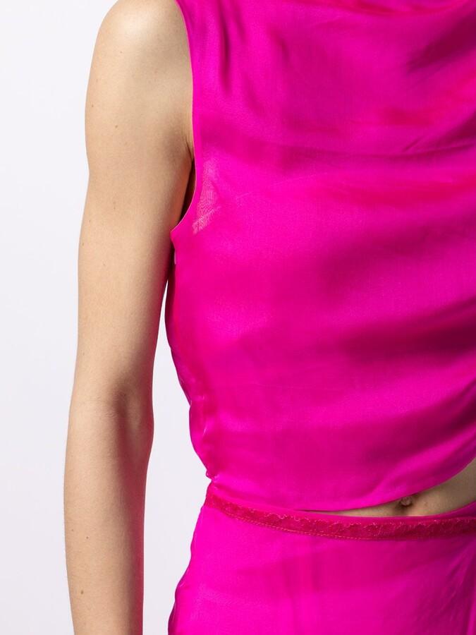 Thumbnail for your product : Supriya Lele Draped-Detail Silk Midi Dress
