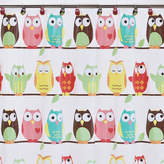 JCPenney Saturday Knight Owls PEVA Shower Curtain