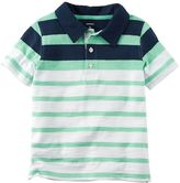 Carter's Toddler Boy Short Sleeve Mint Striped Polo Shirt