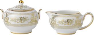 Wedgwood Gold Columbia Sugar Bowl and Creamer