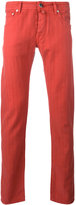 Jacob Cohen mid-rise chinos - men - Cotton/Linen/Flax/Spandex/Elastane - 32