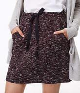 LOFT Tweed Pocket Jogger Skirt