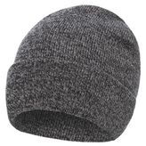 Red Herring Grey Twisted Beanie Hat