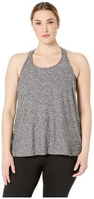 Beyond Yoga Plus Size Lightweight Paneled Keyhole Bopo Tank Top (Black/White) Women's Sleeveless
