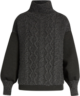 Tomas Maier Contrast-panel high-neck sweater