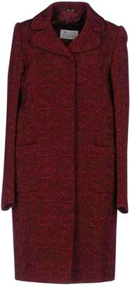 Maison Margiela Burgundy Cotton Coats